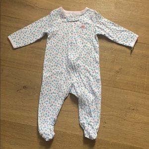 Carter's Floral Sleeper Pyjamas - Size 6 months